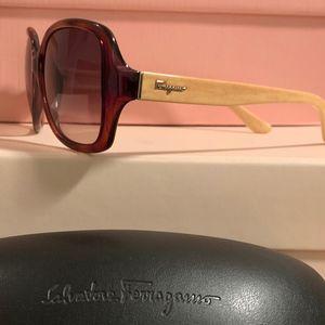 Ferragamo Sunglasses & Case